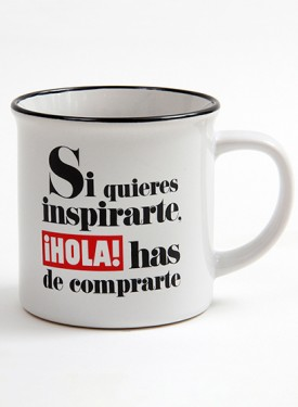 "75TH-ANNIVERSARY COLLECTION CUP  Si quieres inspirarte, el ¡HOLA! has de comprarte - ""If you want to be inspired, you must buy ¡HOLA!"""